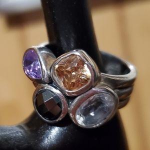 SILPADA sterling multi gemstone ring